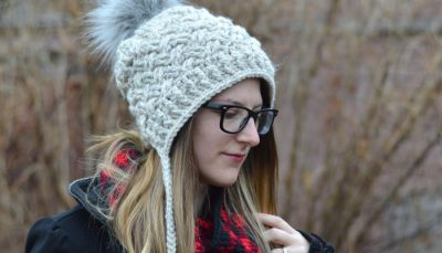 Chunky Diagonal Weave Hat