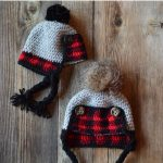 Crochet Baby Plaid Trapper Hat – Free Crochet Pattern