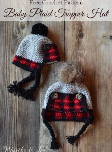 crochetplaidbabytrapperhatfreepattern4pin