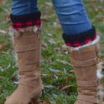 Crochet Plaid Boot Cuffs