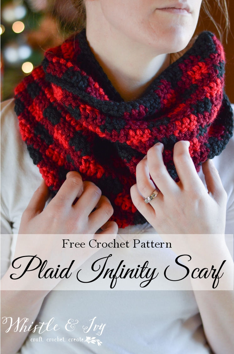 Crochet plaid infinity scarf whistle and ivy bankloansurffo Image collections