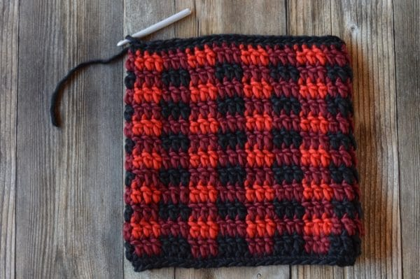 Crochet Plaid Pillow Whistle And Ivy