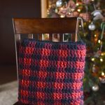 Crochet Plaid Pillow