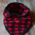 Crochet Plaid Triangle Cowl
