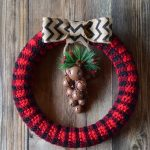 Crochet Plaid Wreath – Free Crochet Pattern