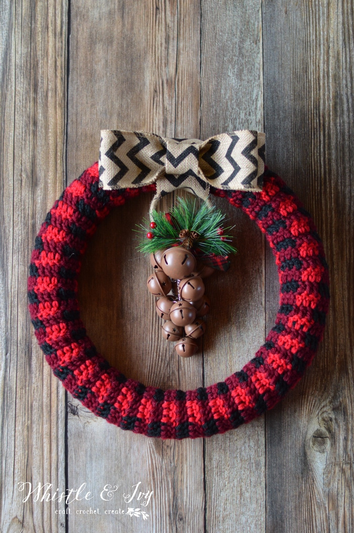 Crochet Plaid Wreath Whistle And Ivy