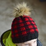 Toddler and Child Crochet Plaid Hat