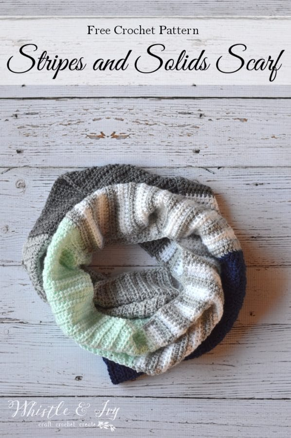Stripes And Solids Crochet Scarf Whistle And Ivy