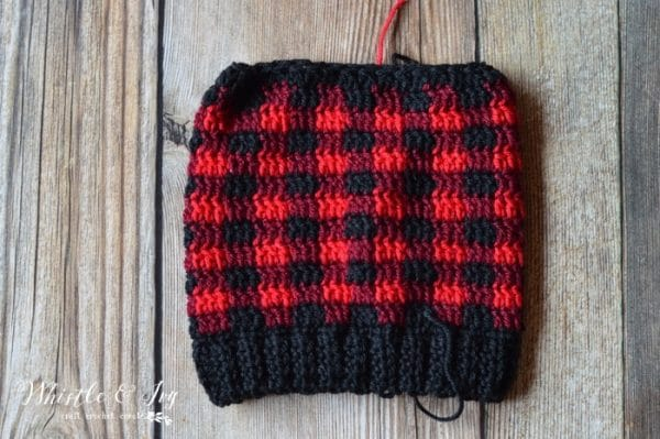FREE Crochet Pattern: Crochet Plaid Hat for Kids and Toddlers! Now, size down your favorite plaid slouchy into a kid or toddler sized hat!