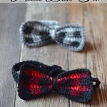 Crochet Plaid Bow Tie