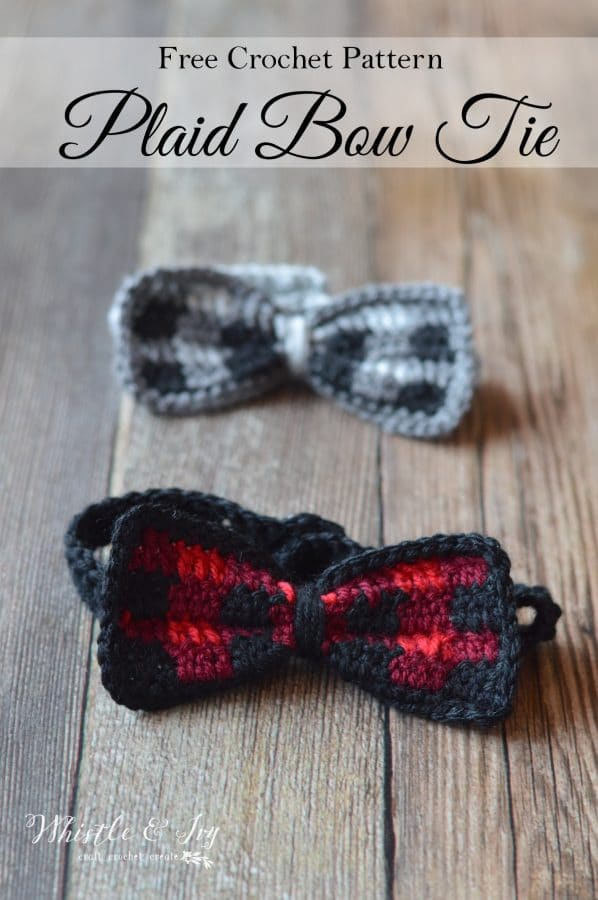 FREE Crochet Pattern: Kid's Crochet Plaid Bow Tie   Make your dapper guy this trendy buffalo plaid bow tie! Perfect for all occasions.