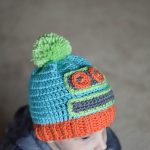 Kid's Crochet Robot Hat