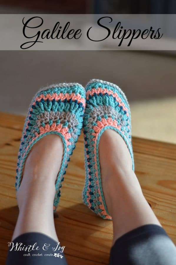 Galilee Crochet Slippers Whistle And Ivy