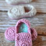 Crochet Baby Loafer Booties