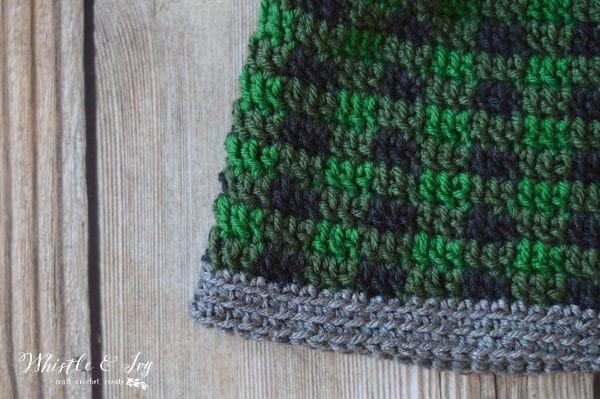 Women s Top Down Crochet Plaid Hat - Free Crochet Pattern - Whistle ... 3043f477a39