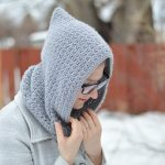 Women's Crochet Hooded Cowl