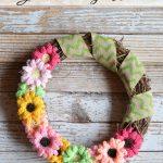 Crochet Gerbera Daisy Wreath