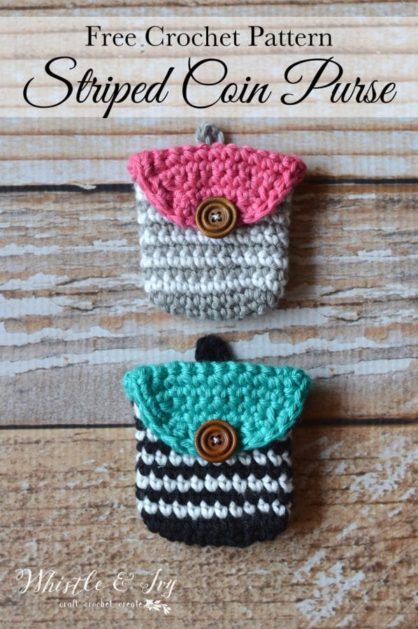 Crochet striped coin purse whistle and ivy free pattern crochet striped coin purse make this cute little pouch to hold all dt1010fo