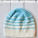 Women's Faded Stripes Slouchy Hat Crochet Pattern