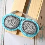 Crochet Aviator Sleep Mask