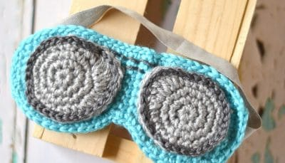 Crochet Aviator Sleep Mask – Free Crochet Pattern