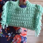 Anthropologie-Inspired  Crochet Fringe Clutch