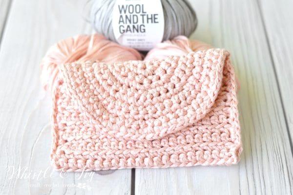 pretty pink easy crochet pouch case free crochet pattern