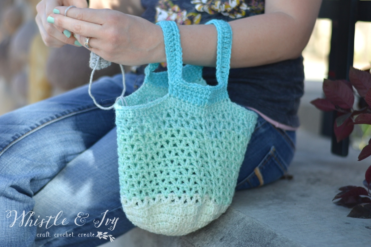 Crochet Grab Bag Pattern : Crochet in Public Bag Pattern - Whistle and Ivy