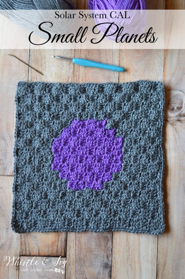 Solar System C2C CAL Day Two - Today's pattern is the small planets! Watch the video and learn how join a second color in your C2C square and read a graph.