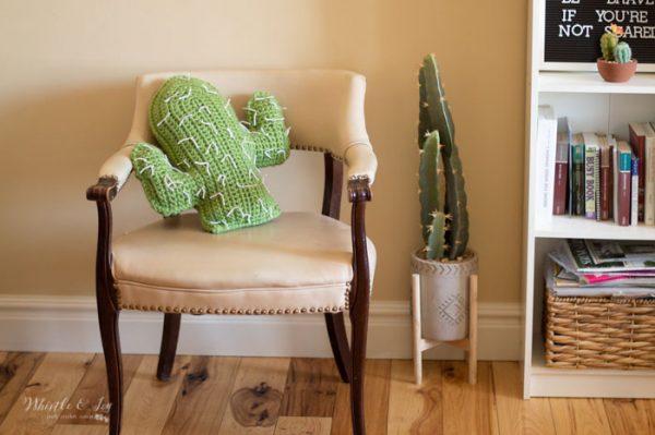 southwest modern crochet decor home crochet pattern free cactus pillow