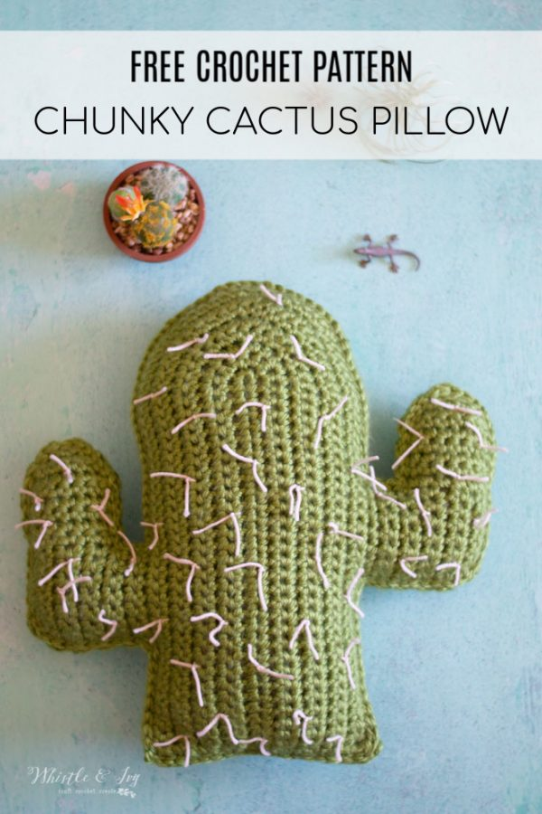 crochet cactus pillow free crochet pattern
