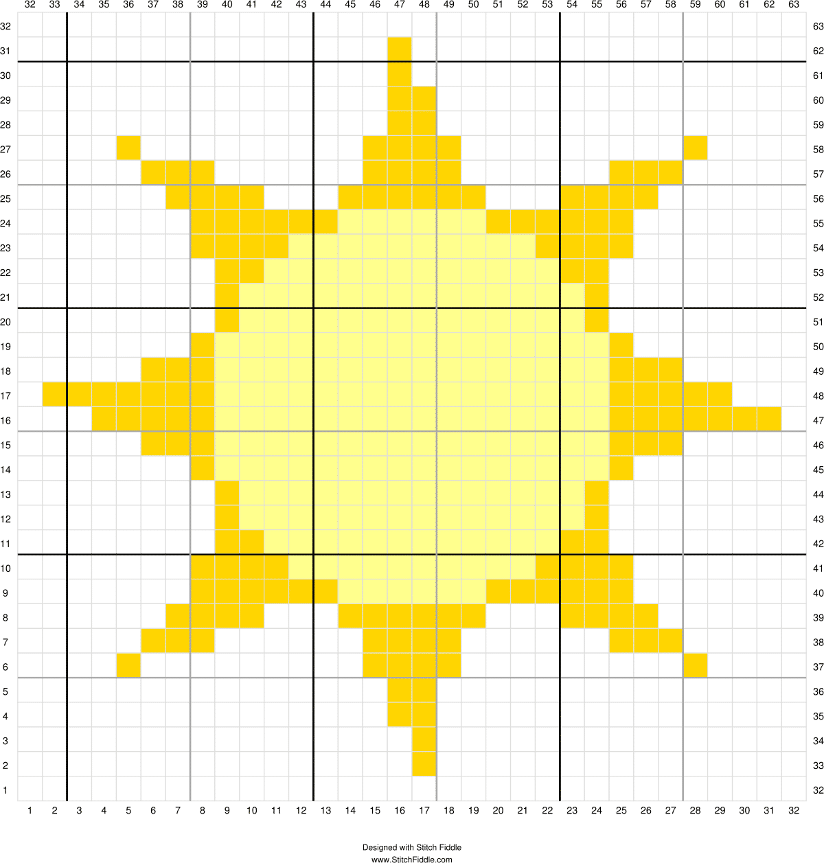 Solar System CAL - The Sun | Finish this fun Space-themed blanket with the final square, the large focal point of the blanket, the C2C Sun!