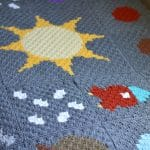 C2C Solar System Blanket – Free Crochet Pattern