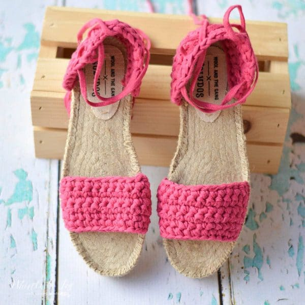 af0a8c68d Crochet Espadrille Sandals - A kit is the perfect way to make crochet  shoes! This