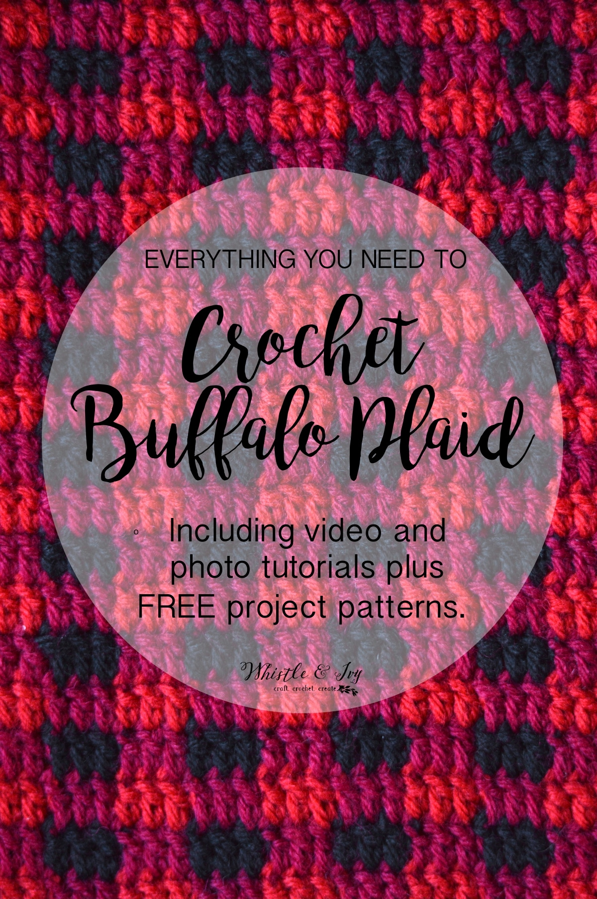 How to crochet buffalo plaid the plaid stitch whistle and ivy baditri Gallery