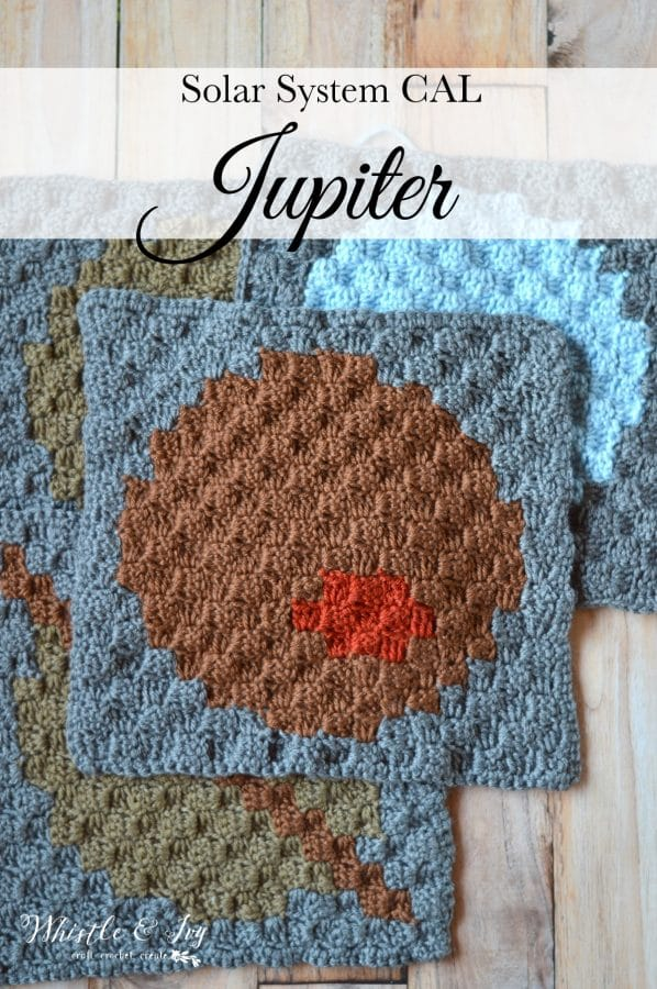 C2C Solar System CAL - Jupiter | Today is Jupiter! Learn how to work with more colors and make the next square for your solar system blanket.