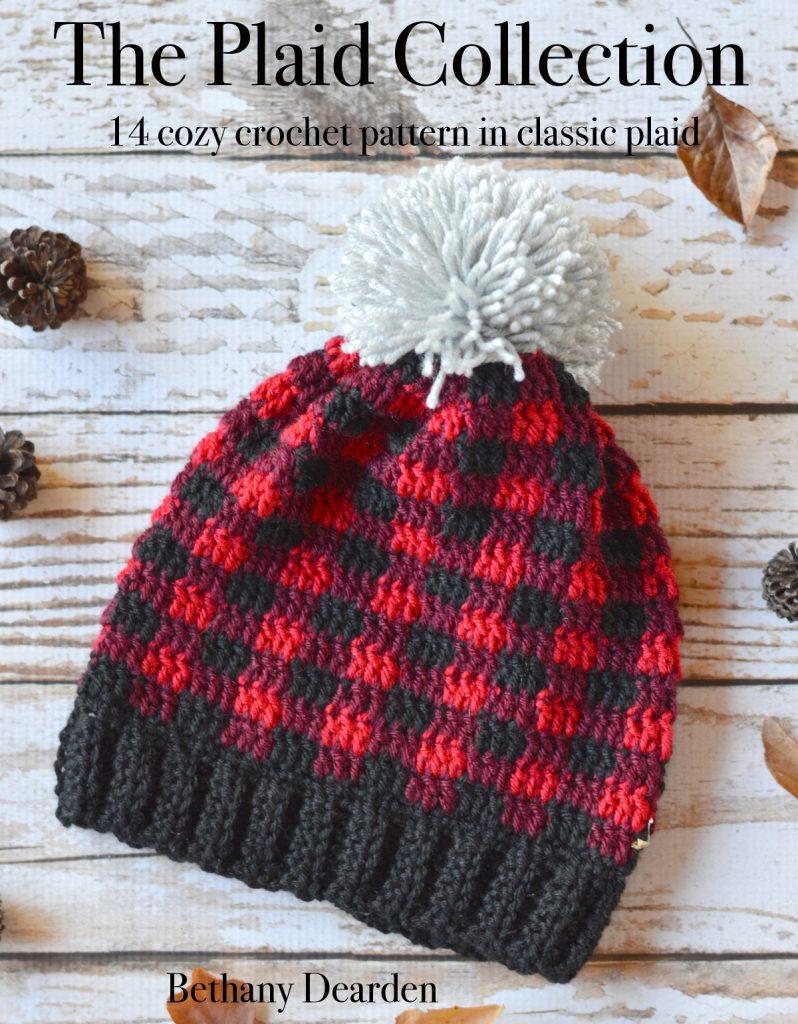 crochet plaid hat plaid collection ebook