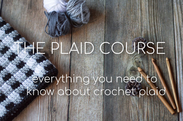 how to work crochet plaid with an online course