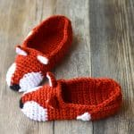 Crochet Fox Slippers