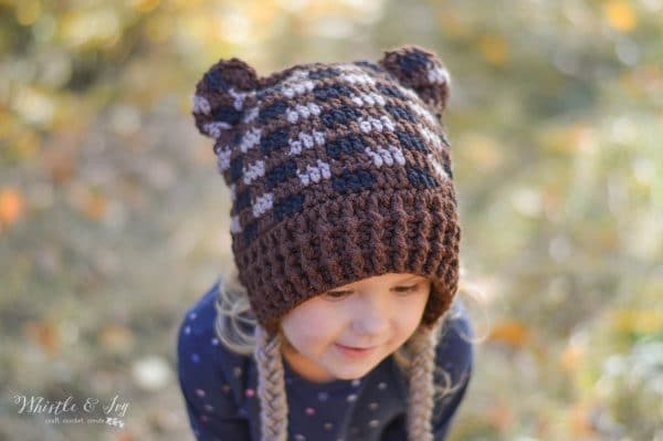 Plaid Crochet Woodland Animal Hats - Free Crochet Pattern - Whistle ... 3bdd27d30df