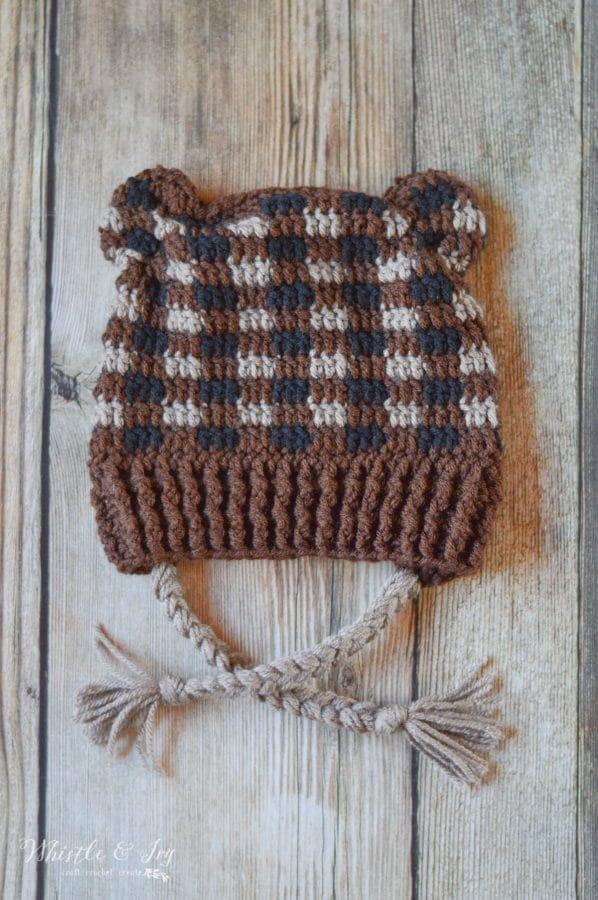 Plaid Crochet Woodland Animal Hats Free Crochet Pattern