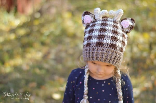 bc1523bca Plaid Crochet Woodland Animal Hats - Free Crochet Pattern - Whistle ...