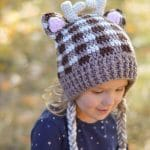 Plaid Woodland Animal Hats