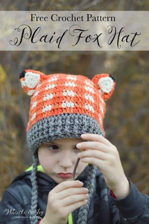 Crochet Plaid Fox Hat Free Crochet Pattern Adorable Crochet Fox Hat
