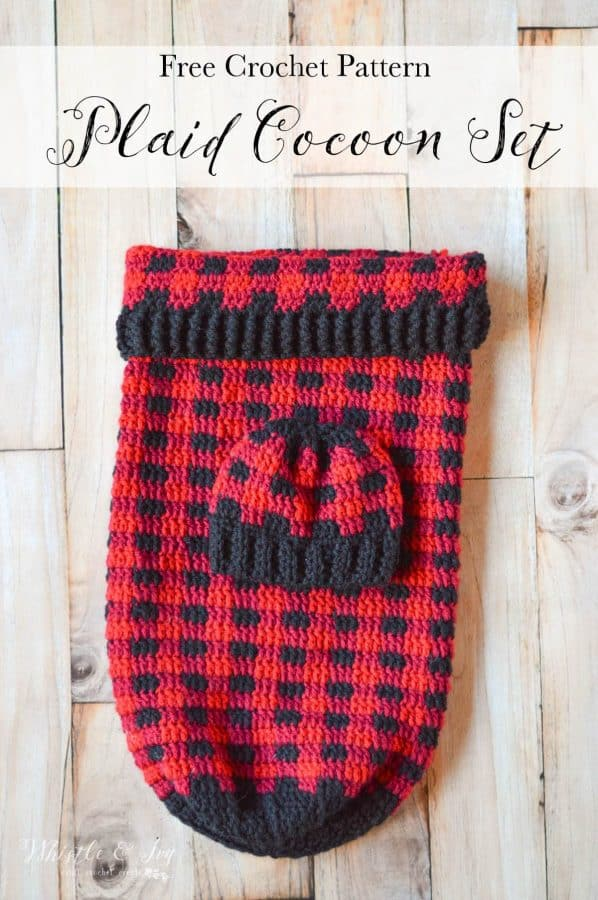 Crochet Plaid Baby Cocoon Free Crochet Pattern Whistle And Ivy