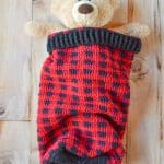 Crochet Plaid Baby Cocoon and Hat set – Free Crochet Pattern