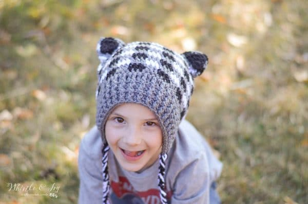 FREE Crochet Patterns: Get FOUR adorable woodland themed hats, made in fun and EASY crochet plaid: Fox, Bear, Raccoon and Deer.