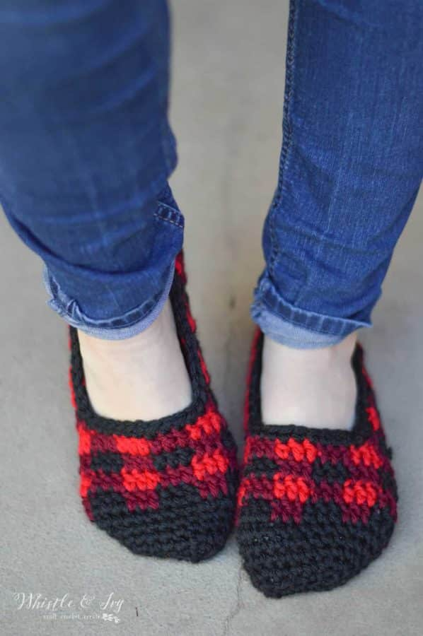 266ee2424c1 The ankle tie crochet slippers written pattern below is for size US Women  Size 8. You can find a PDF that includes 4 sizes