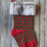 Crochet Plaid Stocking