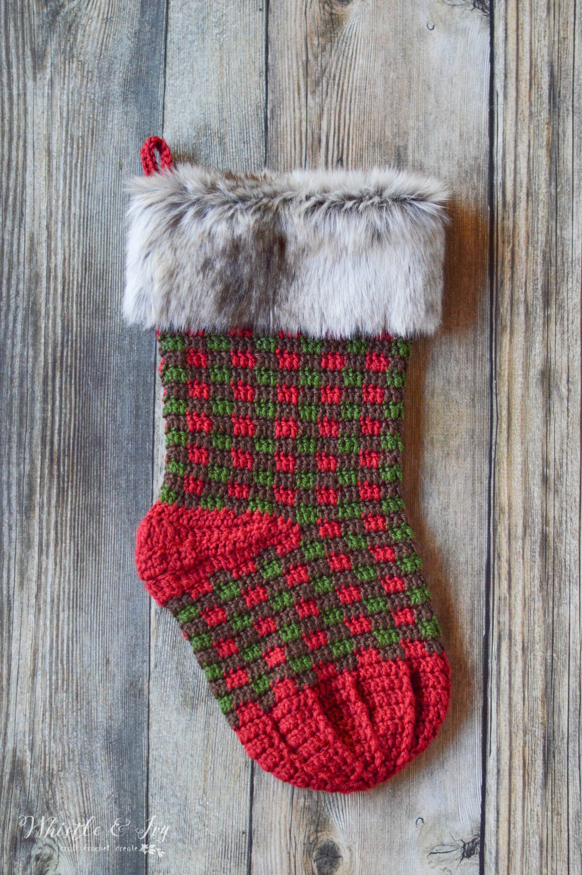 Crochet plaid stocking whistle and ivy bankloansurffo Image collections